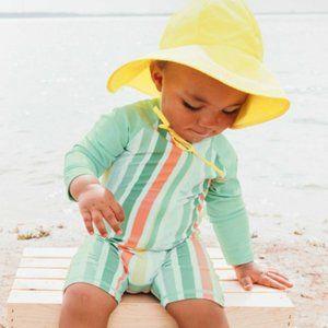 Ruggedbutts Saltwater Stripe Rash Guard Swimsuit